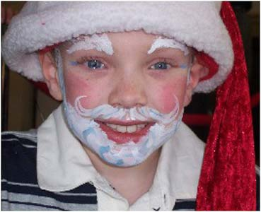 Holiday Face Painting Boy